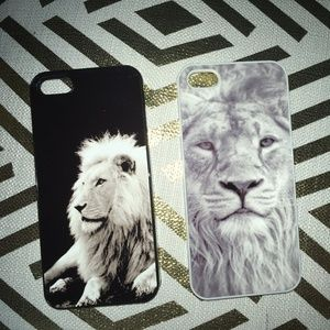 Accessories - LION face image, 2 iphone 5s cases